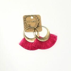Pink & Gold Earrings